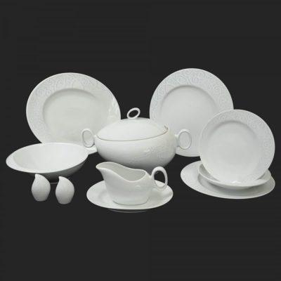 Porcelánová obedová súprava pre 6 osôb Futuorna ornament