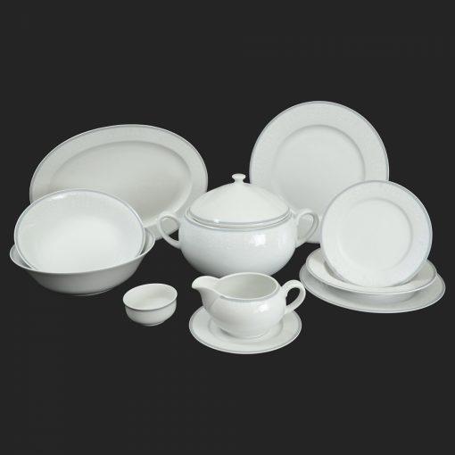 Porcelánová obedová súprava pre 6 osôb Opsed ornament