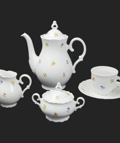 Kávová súprava pre 6 osôb Ophelis farebný kvet