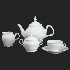Čajová súprava pre 6 osôb Berna biela