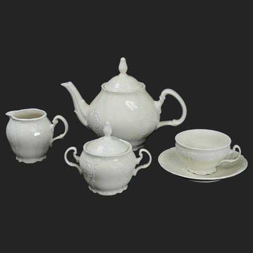 Čajová súprava pre 6 osôb Berna slonová kosť