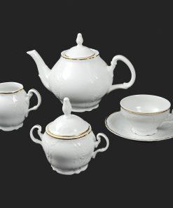 Čajová súprava pre 6 osôb Berna zlatý pruh