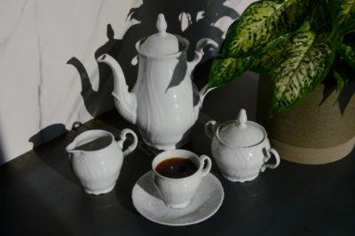 Kávová súprava pre 6 osôb Berna biela