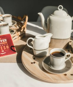 Kávová súprava pre 6 osôb CAMAIRO slonová kosť