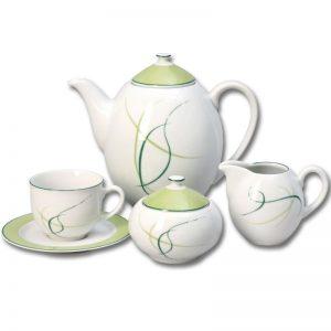 Čajová súprava pre 6 osôb Opalnea tráva