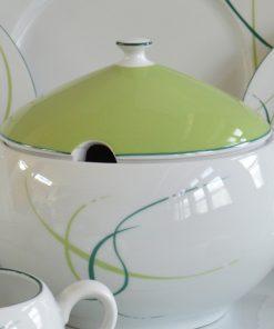 Porcelánová obedová súprava pre 6 osôb Opalnea tráva