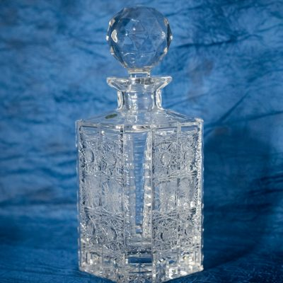 Krištáľová brúsená fľaša 800 ml 106a-600