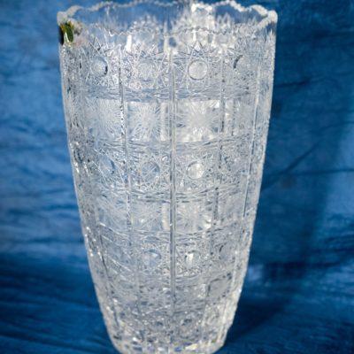 Krištáľová brúsená váza 30 cm