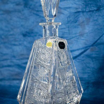 Krištáľová brúsená karafa whisky fľaša 500 ml
