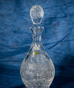 Krištáľová brúsená whisky fľaša 550 ml