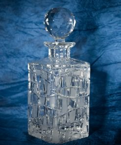 Krištáľová brúsená whisky fľaša 800 ml