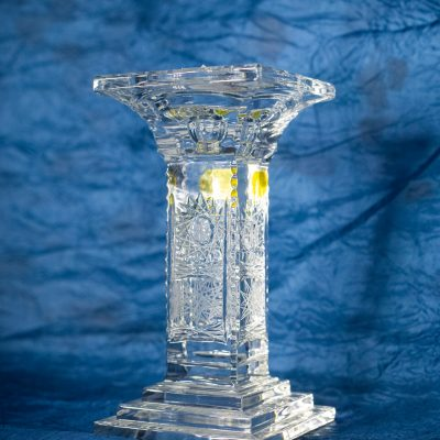 Krištálový brúsený svietnik 18 cm