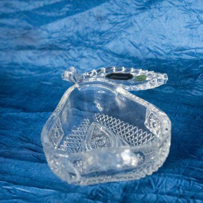 Krištálová brúsená miska hruška 12 cm
