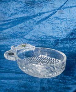 Krištálová brúsená miska slivka 12 cm
