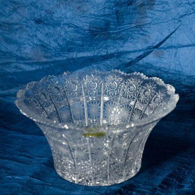 Krištálová brúsená miska 15 cm