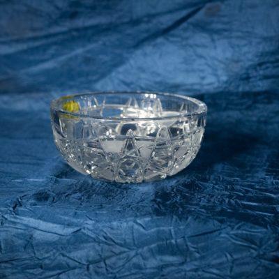Krištálová brúsená miska 12 cm