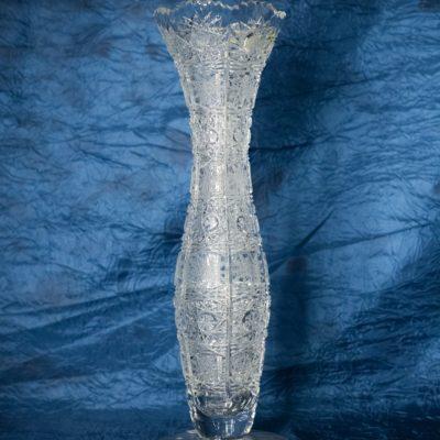 Krištáľová brúsená váza