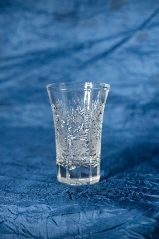 Krištálové brúsené poháre 50 ml set 6 kusov