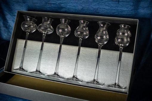 Ručne fúkané degustačné poháre 65 ml set 6 kusov