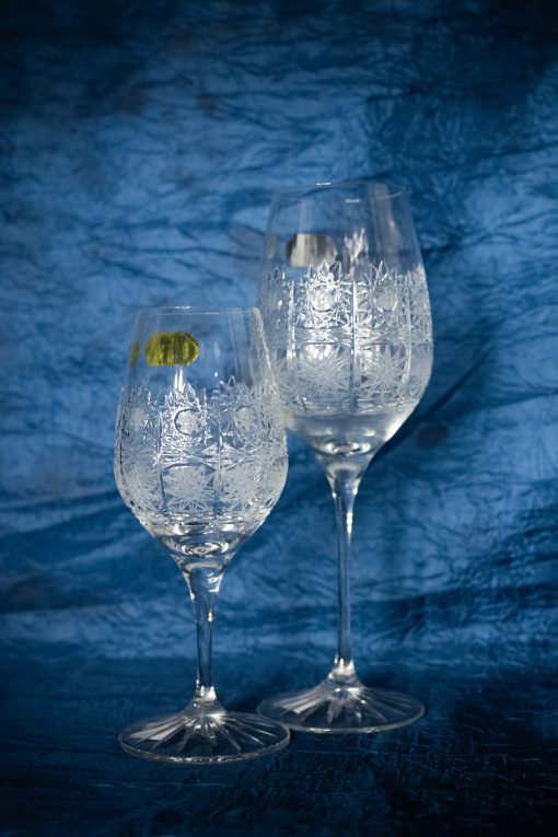 Krištálové brúsené poháre 240 a 350 ml set 6 kusov