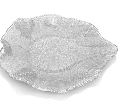 Tanier FOL sivá perleť D37 cm
