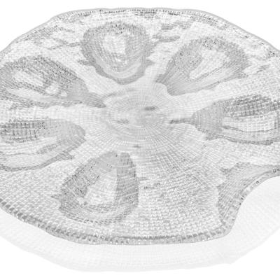 Tanier na ustrice DIAMAN číry D34 cm H3,2 cm