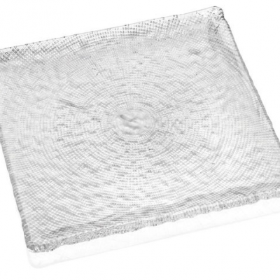 Tanier DIAMAN číry 23,5 x 23,5 cm H1,5 cm