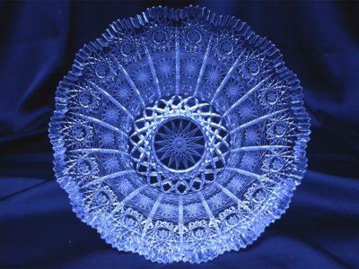 Krištálová brúsená miska 20 cm
