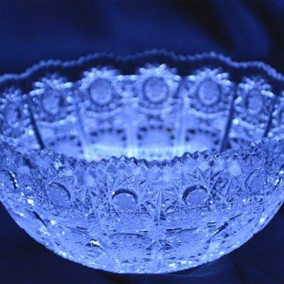 Krištálová brúsená miska 14 cm