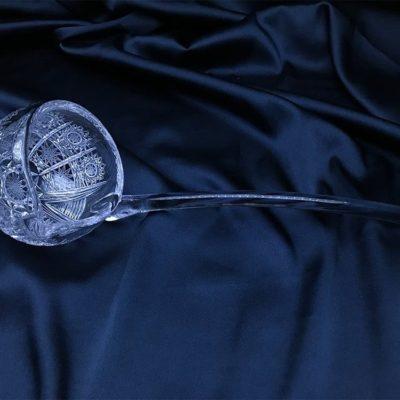 Krištálová brúsená miska 30 cm