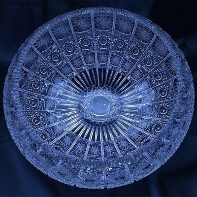 Krištálová brúsená miska 25 cm