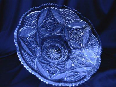 Krištálová brúsená miska 29,5 cm