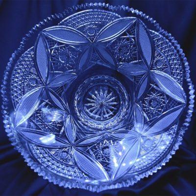 Krištálová brúsená miska 33 cm