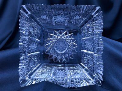 Krištálová brúsená miska 12,5 cm