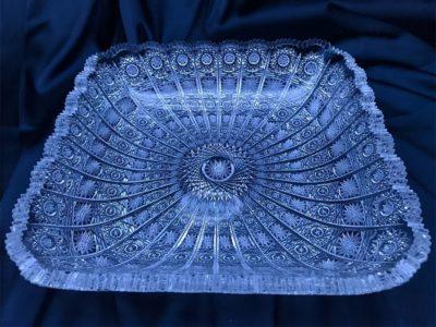 Krištálová brúsená miska 28 cm
