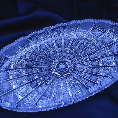 Krištálová brúsená tácka 29,5 cm