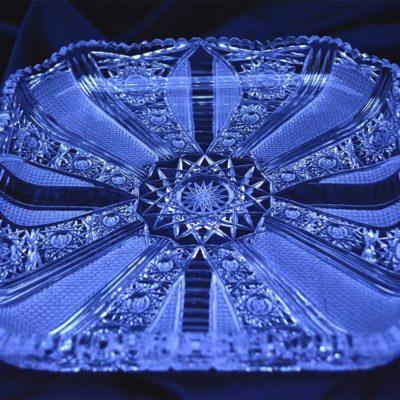 Krištálový brúsený tanier 26 cm
