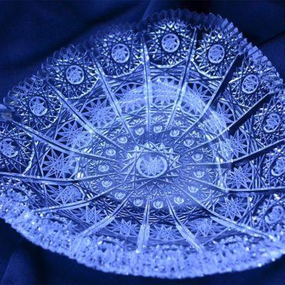 Krištálový brúsený tanier 16 cm