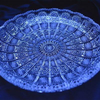 Krištálový brúsený tanier 25 cm