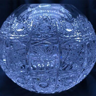Krištáľová brúsená váza 11 cm