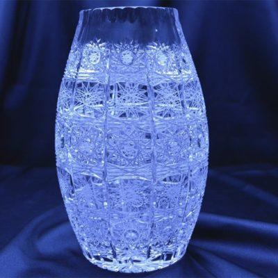 Krištáľová brúsená váza 22 cm