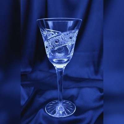 Krištálové brúsené poháre 220 ml set 6 kusov Swarovski