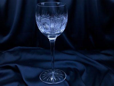 Krištálové brúsené poháre 370 ml set 6 kusov