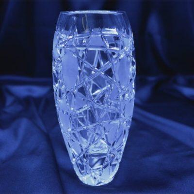 Krištáľová brúsená váza 18 cm