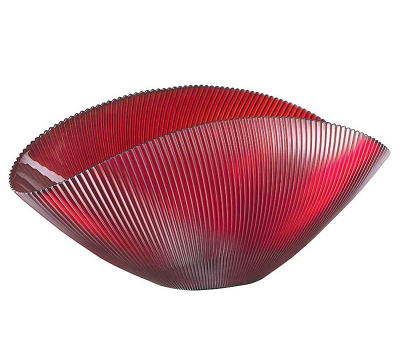 Misa BURA červená s ryhovaním L42 cm