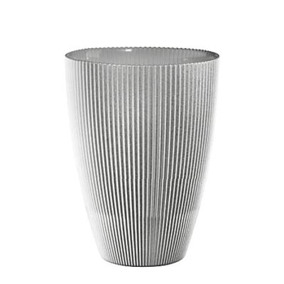 Váza BURA perleťovo sivá s ryhovaním H24 cm
